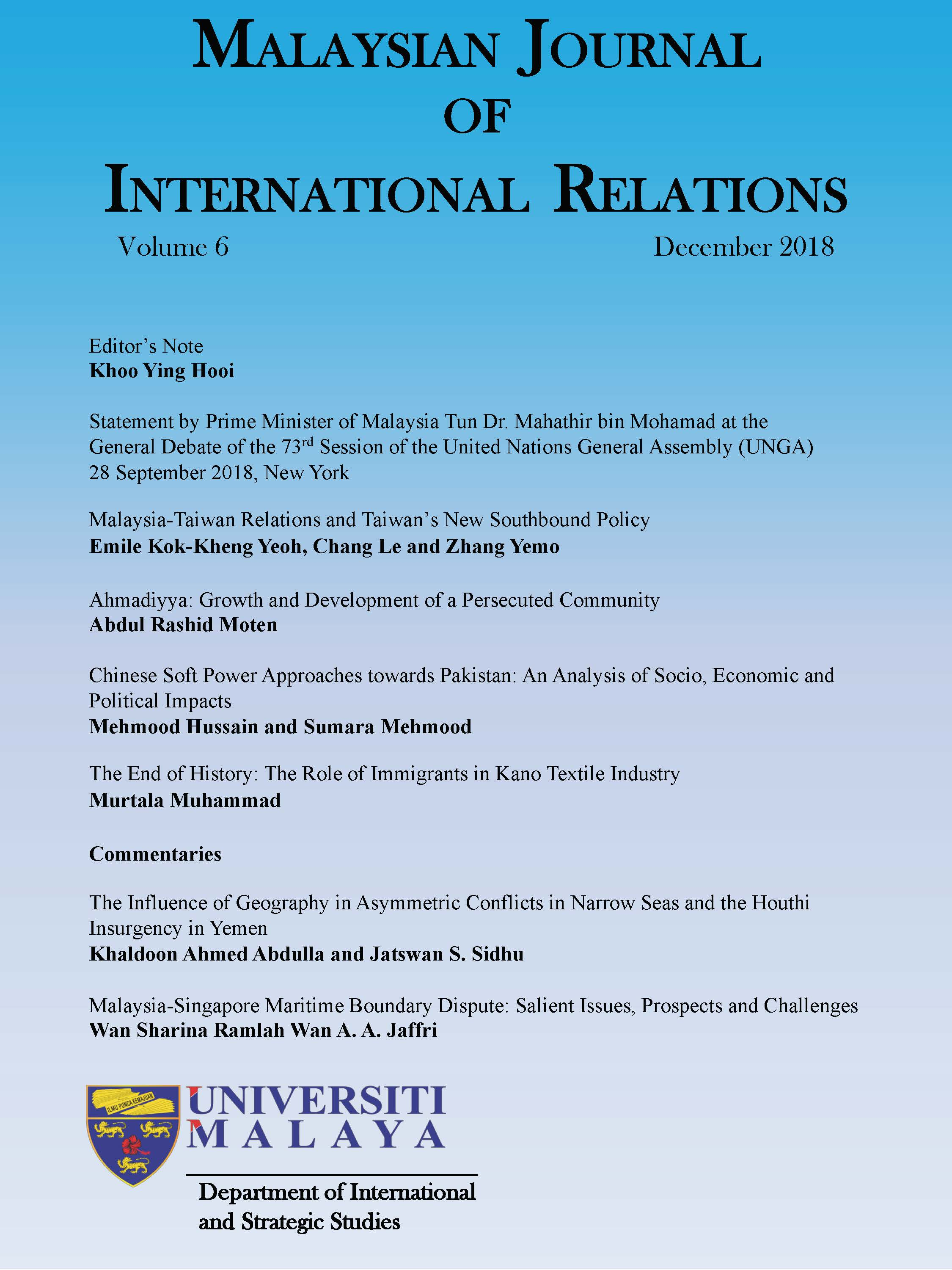 MJIR | Malaysian Journal of International Relations