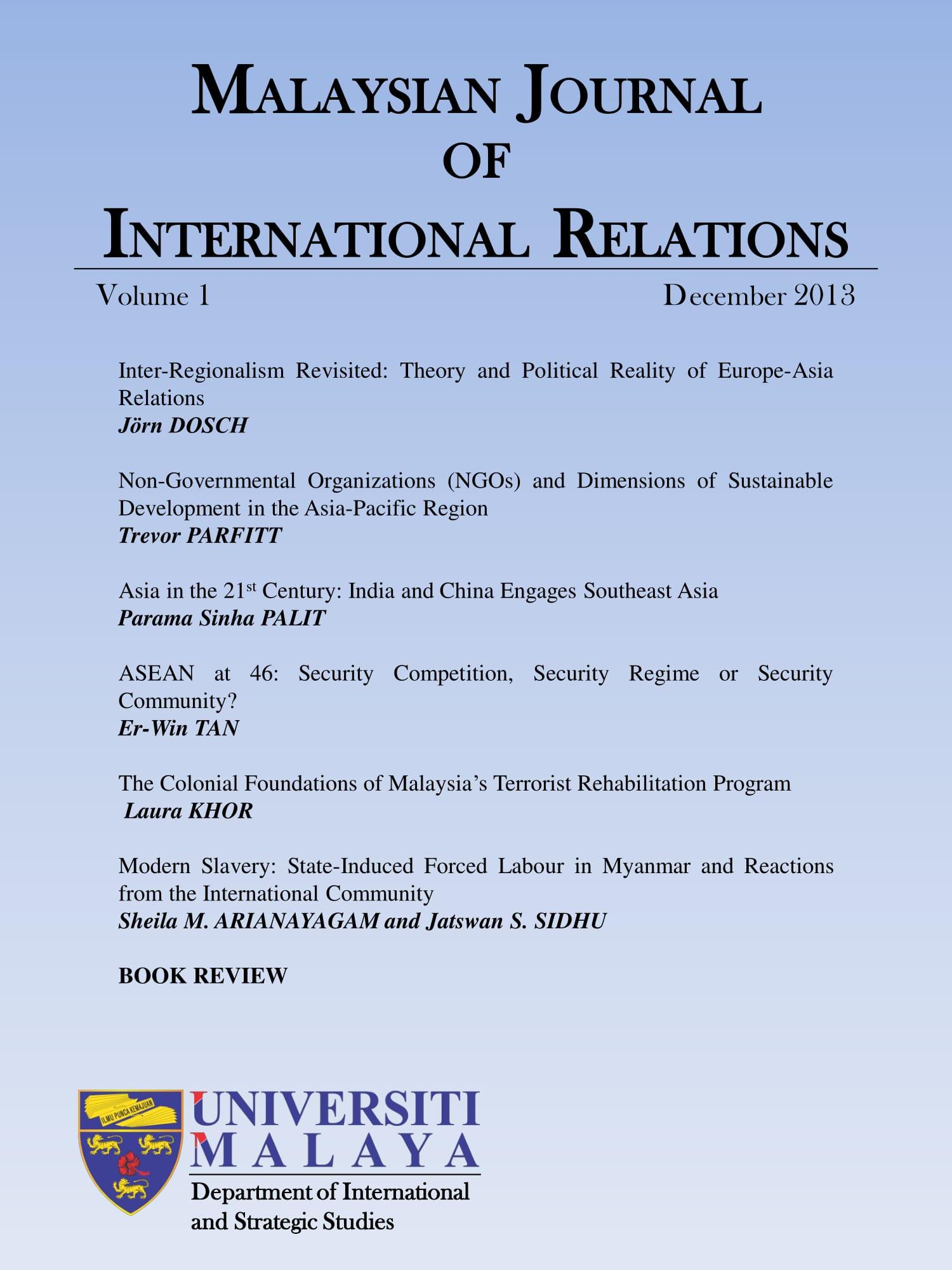 Vol 1 (2013): Vol 1, December 2013 | MJIR | Malaysian Journal of International  Relations